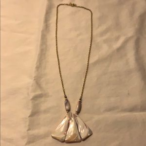 ESTATE ITEM Shell Necklace Gold Plated